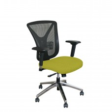 Executive Mesh Chair with Lime Fabric and Chrome Plated Base