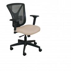 Executive Mesh Chair with Flax Fabric and Black Base