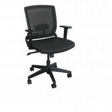 Mid-Back Executive  Mesh Chair with Black Fabric Only and Black Base