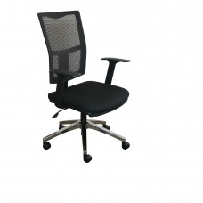 Task Mesh Chair with Black Fabric Only and Chrome Plated Base