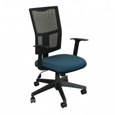 Task Mesh Chair with Iris Fabric and Black Base