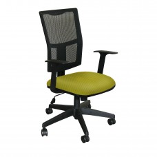 Task Mesh Chair with Lime Fabric and Black Base