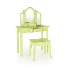 Vanity and Stool - Light Green