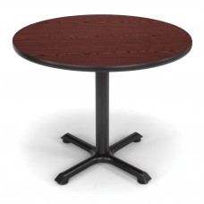 "OFM Round Multi-Purpose Table, 36"", Mahogany"
