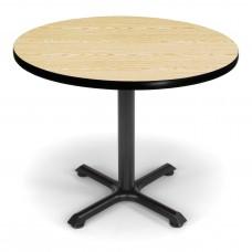 "OFM Round Multi-Purpose Table, 36"", Oak"