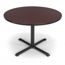 "OFM Round Multi-Purpose Table, 42"", Mahogany"