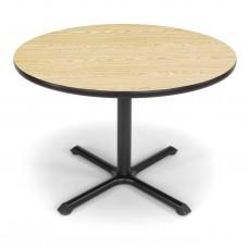 "OFM Round Multi-Purpose Table, 42"", Oak"