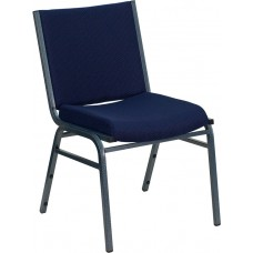 HERCULES Series Heavy Duty Navy Blue Dot Fabric Stack Chair [XU-60153-NVY-GG]