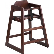 HERCULES Series Stackable Walnut Baby High Chair [XU-DG-W0024-WAL-GG]
