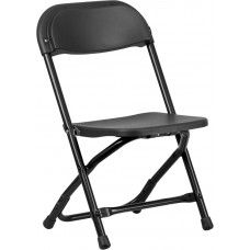 Kids Black Plastic Folding Chair [Y-KID-BK-GG]