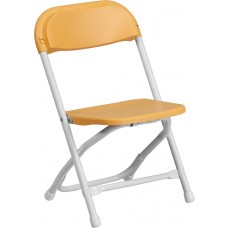 Kids Yellow Plastic Folding Chair [Y-KID-YL-GG]