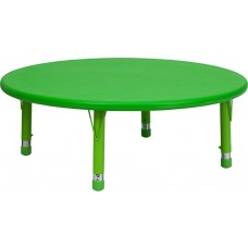 45'' Round Green Plastic Height Adjustable Activity Table [YU-YCX-005-2-ROUND-TBL-GREEN-GG]