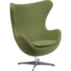 Grass Green Wool Fabric Egg Chair with Tilt-Lock Mechanism [ZB-19-GG]