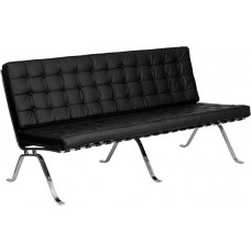 HERCULES Flash Series Black Leather Sofa with Curved Legs [ZB-FLASH-801-SOFA-BK-GG]