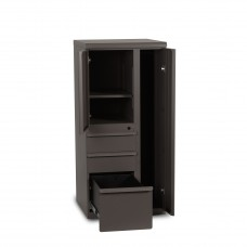 Ensemble  Personal Storage File Tower, 52x24x24 (right), Dark Neutral Finish