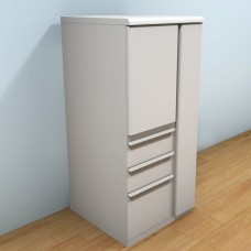 Ensemble  Personal Storage File Tower, 52x24x24 (right), Featherstone Finish