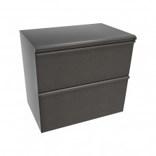 Zapf Two Drawer Lateral File, 30W x 19D x 28H - Dark Neutral Finish