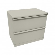 Zapf Two Drawer Lateral File, 36W x 19D x 28H - Dark Neutral Finish
