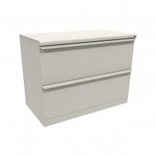 Zapf Two Drawer Lateral File, 36W x 19D x 28H - Featherstone Finish