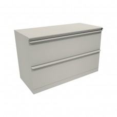 Zapf Two Drawer Lateral File, 36W x 19D x 28H - Putty Finish