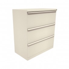Zapf Three Drawer Lateral File, 42W x 19D x 40H - Featherstone Finish