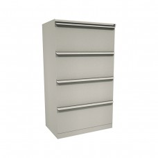 Zapf Four Drawer Lateral File, 36W x 19D x 52H - Dark Neutral Finish