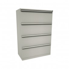 Zapf Four Drawer Lateral File, 36W x 19D x 52H - Featherstone Finish