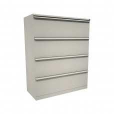 Zapf Four Drawer Lateral File, 36W x 19D x 52H - Putty Finish