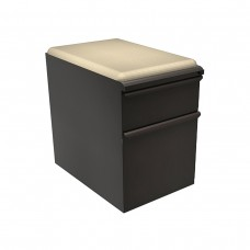 "Mobile Ped with Seat, Box/File, Dark Neutral 23""D, Flax Fabric"