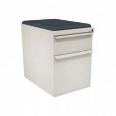 "Mobile Ped with Seat, Box/File, Featherstonel 23""D, Iris Fabric"
