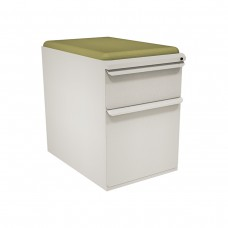 "Mobile Ped with Seat, Box/File, Featherstonel 23""D, Fennel Fabric"