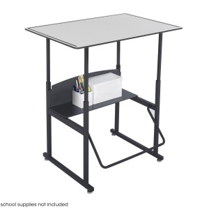 "AlphaBetter Adjustable-Height Stand-Up Desk, 36 x 24"" Premium Top - Gray/Black"