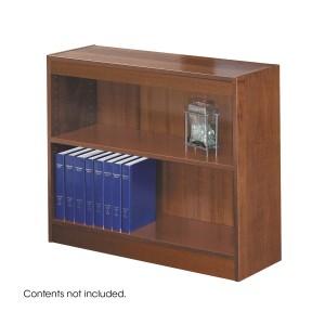 Square-Edge Veneer Bookcase - 2 Shelf - Cherry