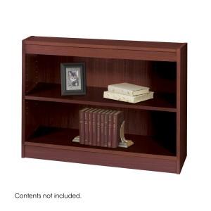 Square-Edge Veneer Bookcase - 2 Shelf - Mahogany