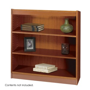Square-Edge Veneer Bookcase - 3 Shelf - Cherry