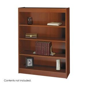 Square-Edge Veneer Bookcase - 4 Shelf - Cherry
