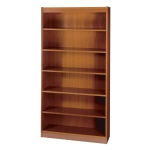 Square-Edge Veneer Bookcase - 6 Shelf - Cherry