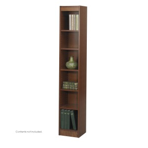 "6-Shelf Veneer Baby Bookcase, 12""W - Cherry"