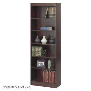 "6-Shelf Veneer Baby Bookcase, 24""W - Mahogany"