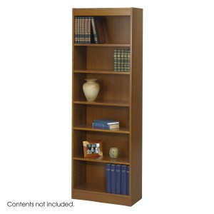 """6-Shelf Veneer Baby Bookcase, 24""""W - Medium Oak"""