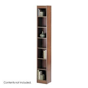 "7-Shelf Veneer Baby Bookcase, 12""W - Cherry"