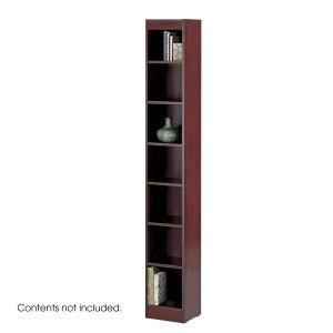 "7-Shelf Veneer Baby Bookcase, 12""W - Mahogany"