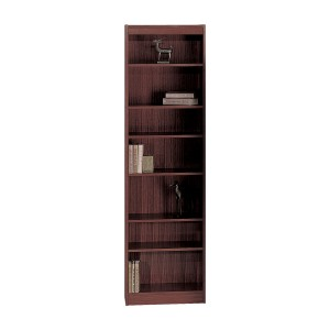"7-Shelf Veneer Baby Bookcase, 24""W - Mahogany"