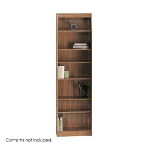 """7-Shelf Veneer Baby Bookcase, 24""""W - Medium Oak"""