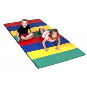 Rainbow Folding Gym Mat - 4'x8'