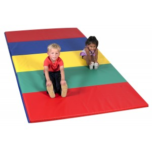 Children's Factory Rainbow Folding Gym Mat Soft Play Mat for Kids Playroom Décor (60 x 120 x 1.5 in)