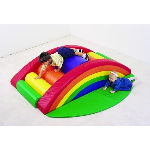 Children's Factory Rainbow Arch Climber Foam Toy for Children Active Playset for Kids (71 x 40 x 18 in)
