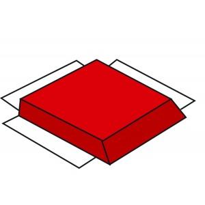 Children's Factory Modular Mat Red Side Soft Play Mat for Kids Playroom Décor (36 x 36 x 1.5 in)
