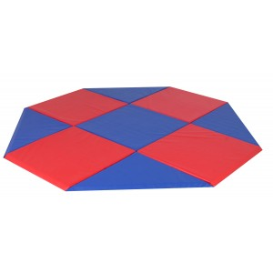 Modular Mats - 9'x9' Octagon Blue & Red