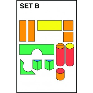 "Children's Factory Module Blocks 12"" Foam Play Set for Kids Set B Playroom Décor Play Foam (36 x 12 x 12 in)"